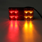 2 STKS 8 LED Tail Brake Indicator Lights IP67 Waterdicht Rood Geel Kleur Universal Voor 12 V Truck Trailer_