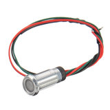 12V 8mm Dual Color LED Dashboard Pilot Panel Indicator Waarschuwingslicht Autoboot_