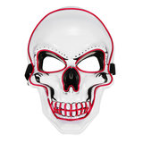 Halloween LED Light Up Mask EL Wire Skull Face Glow Mask Cosplay Party Gifts_