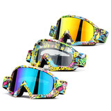 Motorcycle Racing Goggles Anti-condens Anti-Scratch Volwassen Snowboard Skibril_