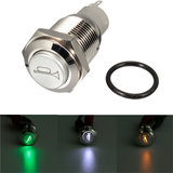 12V 16mm Car Boat LED Light Momentary Horn Button Switch 3 Kleur_