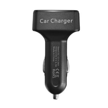 EC2 4 in 1 Dual USB Car Charger Adapter 3.1A Bullet Car Charger for Mobile Phone