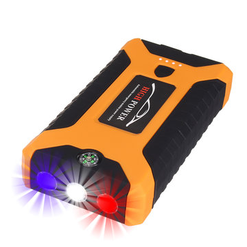 Draagbare Auto Jump Starter 10000 mAh 600A Piek Powerbank Emergency Batterij Booster Digitale lader met LED zaklamp USB-poort