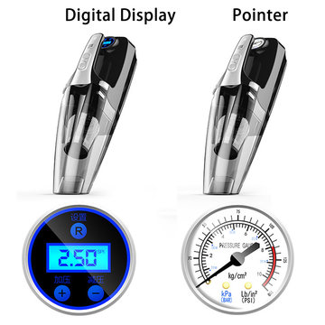 4000Kpa 12 W 12V 29000-31000rpm Digitaal display of Pointer Luchtpomp Auto Home Stofzuiger