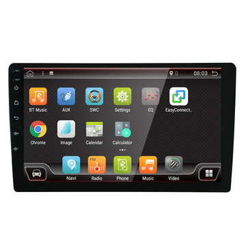 YUEHOO 10.1 Inch 2 DIN voor Android 8.0 Auto Stereo Radio Speler 4 Core 2 + 32G Touchscreen 4G bluetooth FM AM RDS Radio GPS