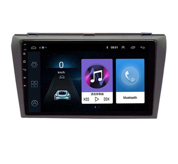 9 Inch voor Android 8.1 Auto GPS Navigatie Auto Stereo Wifi Quad-core 1 + 16G Bluetooth Touchscreen FM Voor Mazda 3 2004-2012