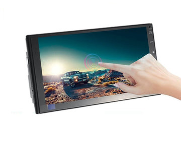 T3 7 Inch 2 DIN voor Andriod 8.1 Auto-multimedia speler Quad Core 1G + 16G Touchscreen Stereo GPS WiFi bluetooth FM