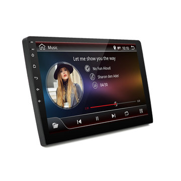 9 Inch 2 DIN voor Android 8.1 1 + 16G 4 Core Auto Stereo Radio MP5-speler Touchscreen GPS Nachtzicht WIFI DAB Waterdicht 170 ° Groothoek