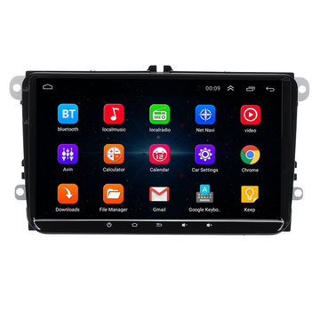 9 Inch voor Android 8.1 Auto Stereo Radio MP5 speler 1 + 16G Quad Core Touchscreen bluetooth DVR WIFI voor VW