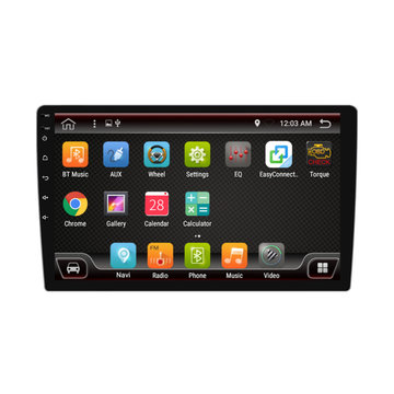 PX6 10.1 Inch 1 DIN 4 + 32G voor Android 9.0 Auto MP5 speler 8 Core Touchscreen bluetooth RDS Radio GPS met Carema