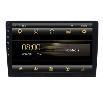 T3 9 inch 1 Din Auto Stereo Radio Android 8.1 Quad-core MP5 speler GPS bluetooth DAB + Wifi 4G