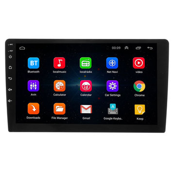 9 Inch 2 DIN Auto Stereo Radio Quad Core Android 8.0 Aanraakscherm Bluetooth WIFI GPS Nav Video MP5 Player