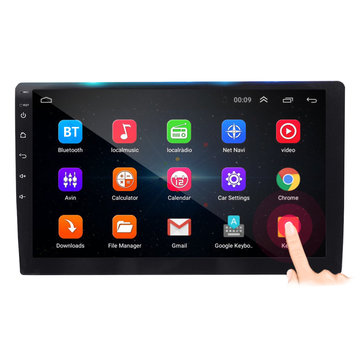 10.1 Inch 2 DIN voor Android 8.1 Auto MP5 Speler 1 + 16G Quard Core Touchscreen GPS WiFi DVR Ondersteuning Camera