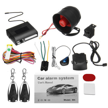 Universal 1 Way 2 Remote Car Vehicle Protection Alarm Beveiligingssysteem Keyless Entry Siren