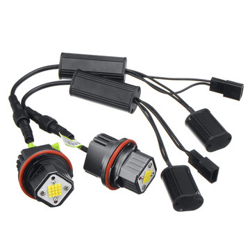 2 Stks E39-K80 18 LEDs Auto Angel Eyes Lights LED Lampen 160 W 5000LM 7000 K voor BMW E39 E53 E65 E66 E60 E61