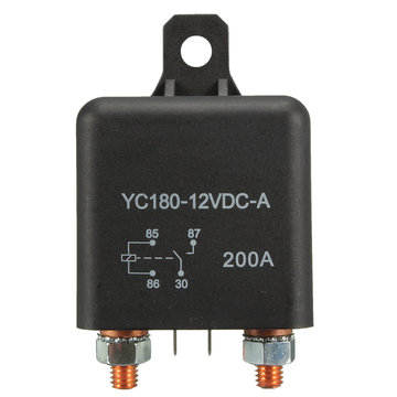 12V 200A Heavy Duty Split Lading ON / OFF Switch Relais Auto Auto Boot 200Amp