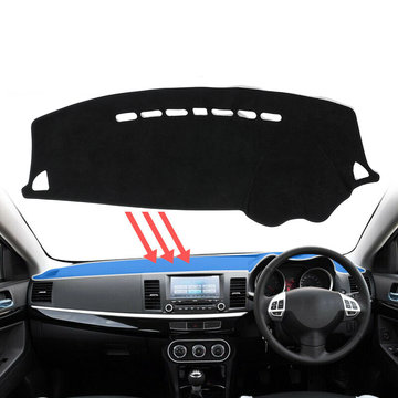 Dash Mat Dashmat Carpet Cover For Mitsubishi Lancer 2008~2016 Dashboard Cover
