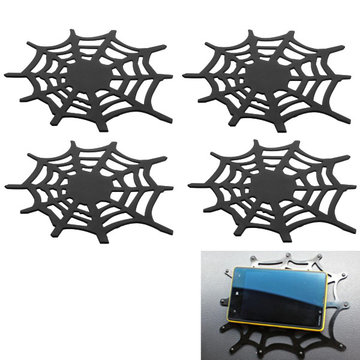 Black Silone Gel Spider Web Mat Anti-slip Car Dashboard Pad for Mobile Phone GPS Universal