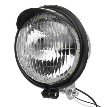 12V Retro LED-motorfiets Bullet witte koplampen Hi / Low Beam Super Bright Light