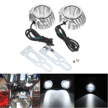 DC 12-80V Bright Fog Spot Head Licht LED Lamp Bulb Motorcycle White Universal