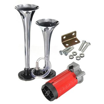 Chrome Air Horn Trumper voor Truck Mega Train 12V 135db Super Loud