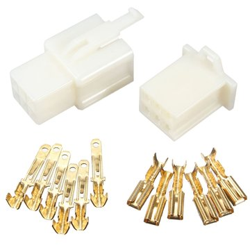 6 Way 2.8mm Connector Terminal Kit Voor Auto Motorcycle Pin Blade Scooter ATV
