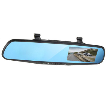 4 inch 1080P HD Dual Lens Car DVR Video Recorder Achteruitkijkspiegel Reverse Camera Kit