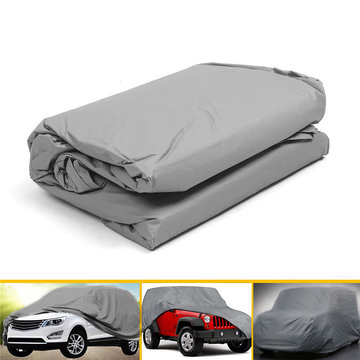 XL PEVA No Ear Silver Grey Universele Car Cover UV Weerstand Anti Scratch Dust Dirt Volledige beschermer