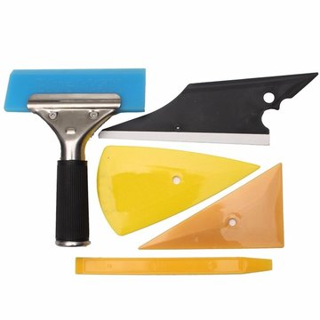5st Car Window Tinting & Wrapping Installatie Tools Kit Set Contour Squeegee