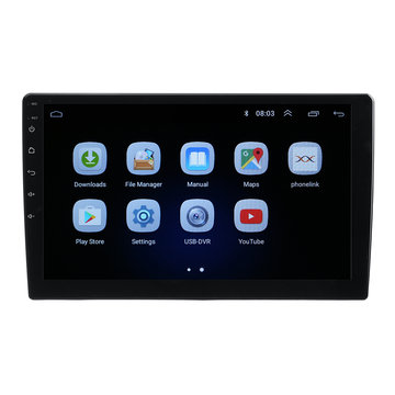 10.1 Inch 2DIN voor Android 8.1 Auto Stereo MP5-speler Quad Core 1 + 16GB WIFI GPS Navigatie FM Bluetooth-telefoonverbinding DAB