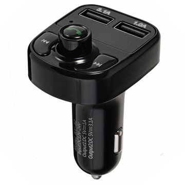 Dual Usb Car Charger MP3 Audio Player Bluetooth Car Kit FM Transimitters Hands Gratis Telefoon Charger