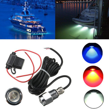 9W IP68 Waterdicht Rate 6 LED Car Boat Drain Plug Light Bulb