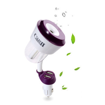 RUNDONG Auto Dual USB Lader Bevestig Air Purifier Aromatherapy Oil Diffuser Negative Cleaner