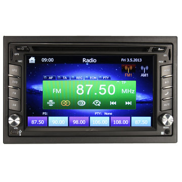 GPS Navigatie 1080P HD 2DIN Car Stereo DVD-speler Bluetooth iPod MP3 Camera
