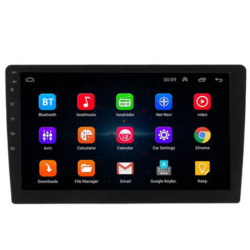 10.1 Inch 2DIN voor Android 8.1 Auto Stereo 1 + 16G Quad Core Player GPS Navigatie bluetooth FM-radio