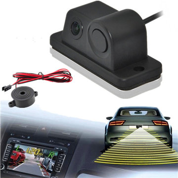 Parking Sensor Buzzer 170 Degree Night Vision Car Achteraanzicht Backup Camera