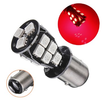 1157 BAY15D 18 5050 SMD LED auto remlichten Lamp Rood CANBUS Geen fout