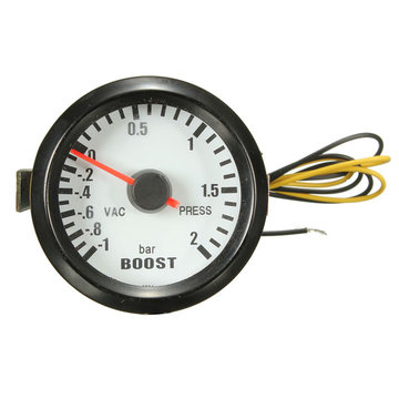 Zwart 2 inch 52mm auto Universele LED-bar Turbo Boost Vacuümmeter