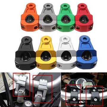 Paar 7/8 inch 22mm HandleBar Fat Bar Mount Clamps Riser CNC Dirt Bike Motorcycle