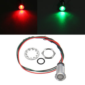 12V 8mm Dual Color LED Dashboard Pilot Panel Indicator Waarschuwingslicht Autoboot