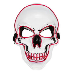Halloween LED Light Up Mask EL Wire Skull Face Glow Mask Cosplay Party Gifts
